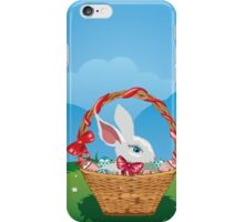 Easter Bunny with Eggs in the Basket 3 iPhone Case/Skin