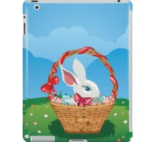 Easter Bunny with Eggs in the Basket 3 iPad Case/Skin