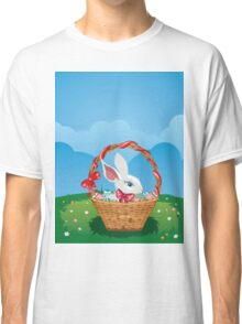 Easter Bunny with Eggs in the Basket 3 Classic T-Shirt
