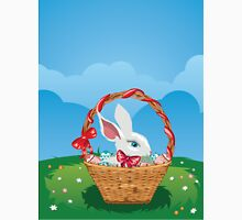 Easter Bunny with Eggs in the Basket 3 Unisex T-Shirt