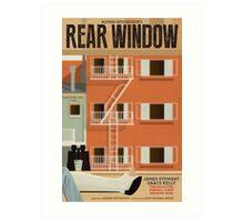 Rear Window alternative movie poster Art Print