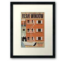 Rear Window alternative movie poster Framed Print