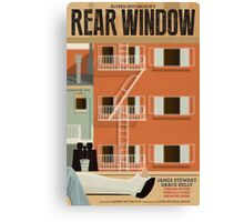 Rear Window alternative movie poster Canvas Print