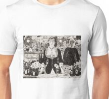 "From a carbon paper trace monotype after Edouard Manet's ""A Bar at the Folies-Bergere."" Unisex T-Shirt"