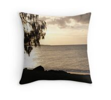 sunset at hervey bay Throw Pillow