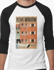 Rear Window alternative movie poster Men's Baseball ¾ T-Shirt