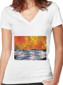 Storm Overhead Women's Fitted V-Neck T-Shirt
