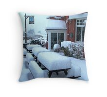 A Pint at the Blue Anchor ! Throw Pillow