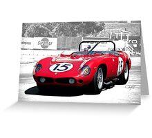 1961 Ferrari 250 TR61 Rosso Corsa Greeting Card