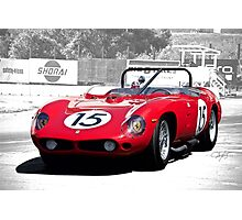 1961 Ferrari 250 TR61 Rosso Corsa Photographic Print