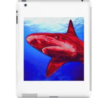 Blue and Red Shark art iPad Case/Skin