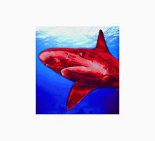 Blue and Red Shark art Unisex T-Shirt