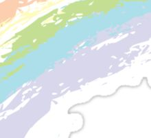 Grunge Rainbow 2 Sticker