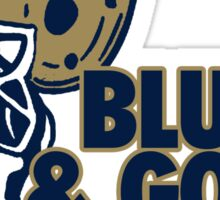 Blue & Gold Sticker