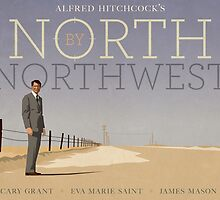North by Northwest alternative movie poster by kinographics