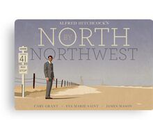 North by Northwest alternative movie poster Canvas Print