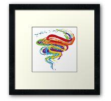 Grunge Rainbow 3 Framed Print