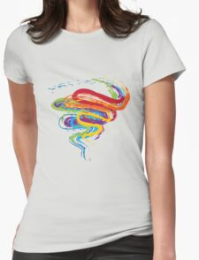 Grunge Rainbow 3 Womens Fitted T-Shirt