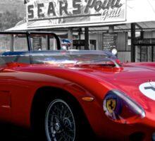 1961 Ferrari 250 TR61 Rosso Corsa Sticker