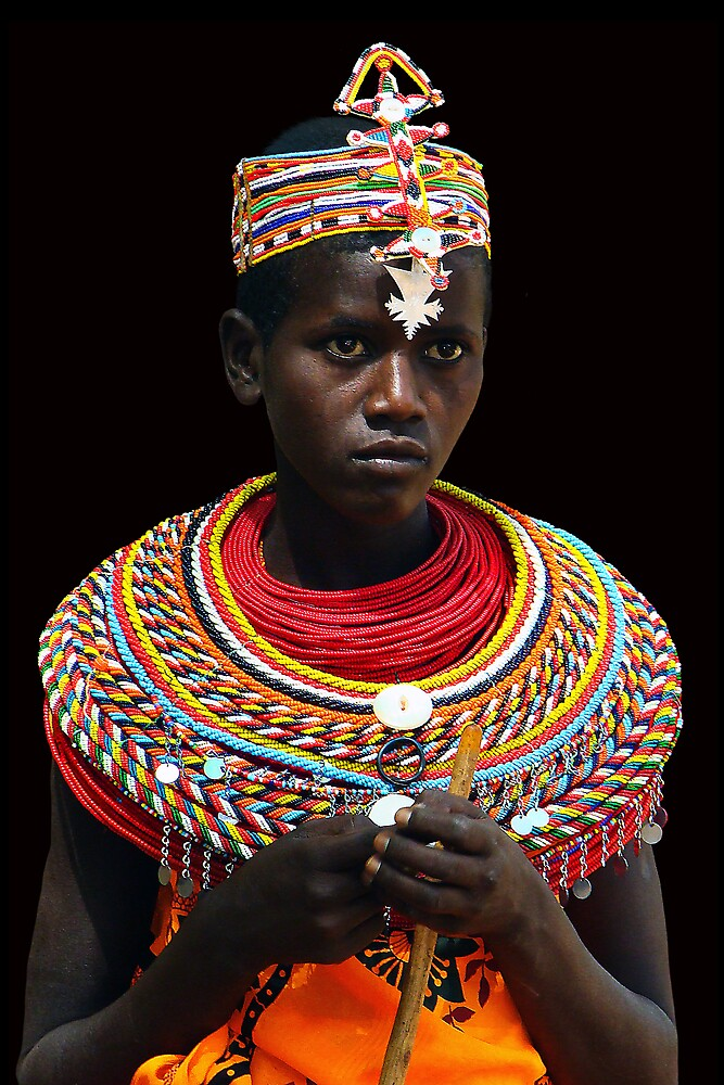 SAMBURU GIRL - KENYA 2 by Michael Sheridan