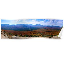 Mt. VanHoevenberg  Panorama, Adirondack Mountains Poster