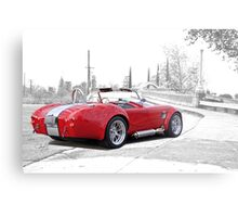 1965 Shelby Cobra 'Crossing Over' Metal Print
