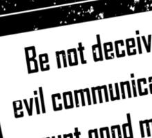 1CORINTHIANS 15:33  Bad Company  Sticker