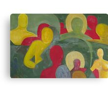 Abstract people in color Canvas Print