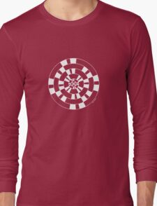 Mandala 40 Simply White Long Sleeve T-Shirt