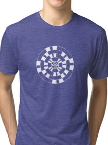 Mandala 40 Simply White Tri-blend T-Shirt