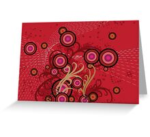 Red floral background Greeting Card