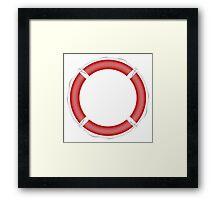 Red Life Buoy  Framed Print