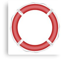 Red Life Buoy  Canvas Print