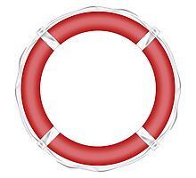Red Life Buoy  Photographic Print