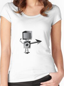 Robot TV Women's Fitted Scoop T-Shirt
