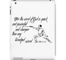 HEBREWS 4:12 the Sword of the Lord iPad Case/Skin
