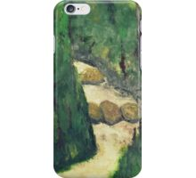 Green landscape with running water iPhone Case/Skin
