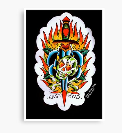 East End - Tattoo flash Canvas Print