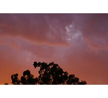 Sunset along the Calder Highway Photographic Print