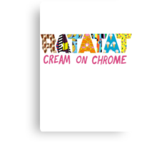 cream on chrome Canvas Print