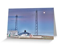Flamborough Fog Station and Keepers Cottage. Greeting Card