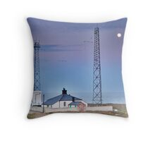 Flamborough Fog Station and Keepers Cottage. Throw Pillow
