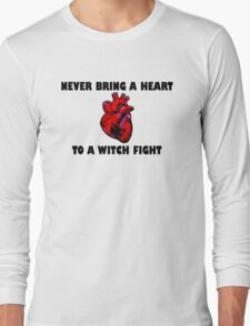 Witch Fight Heart in Black Long Sleeve T-Shirt