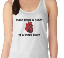 Witch Fight Heart in Black Women's Tank Top