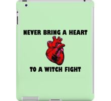 Witch Fight Heart in Black iPad Case/Skin