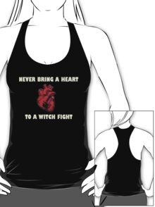 Witch Fight Heart in White T-Shirt