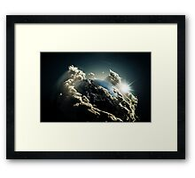 Earth vs Space Framed Print