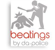 POLICE BEATINGS by Tai's Tees Metal Print