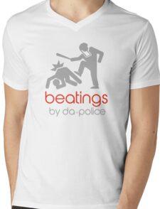 POLICE BEATINGS by Tai's Tees Mens V-Neck T-Shirt
