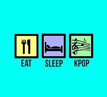 EAT SLEEP KPOP - TEAL  by Kpop Seoul Shop